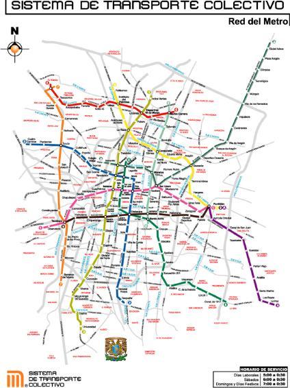Un Día por el metro en la Ciudad de Mexico